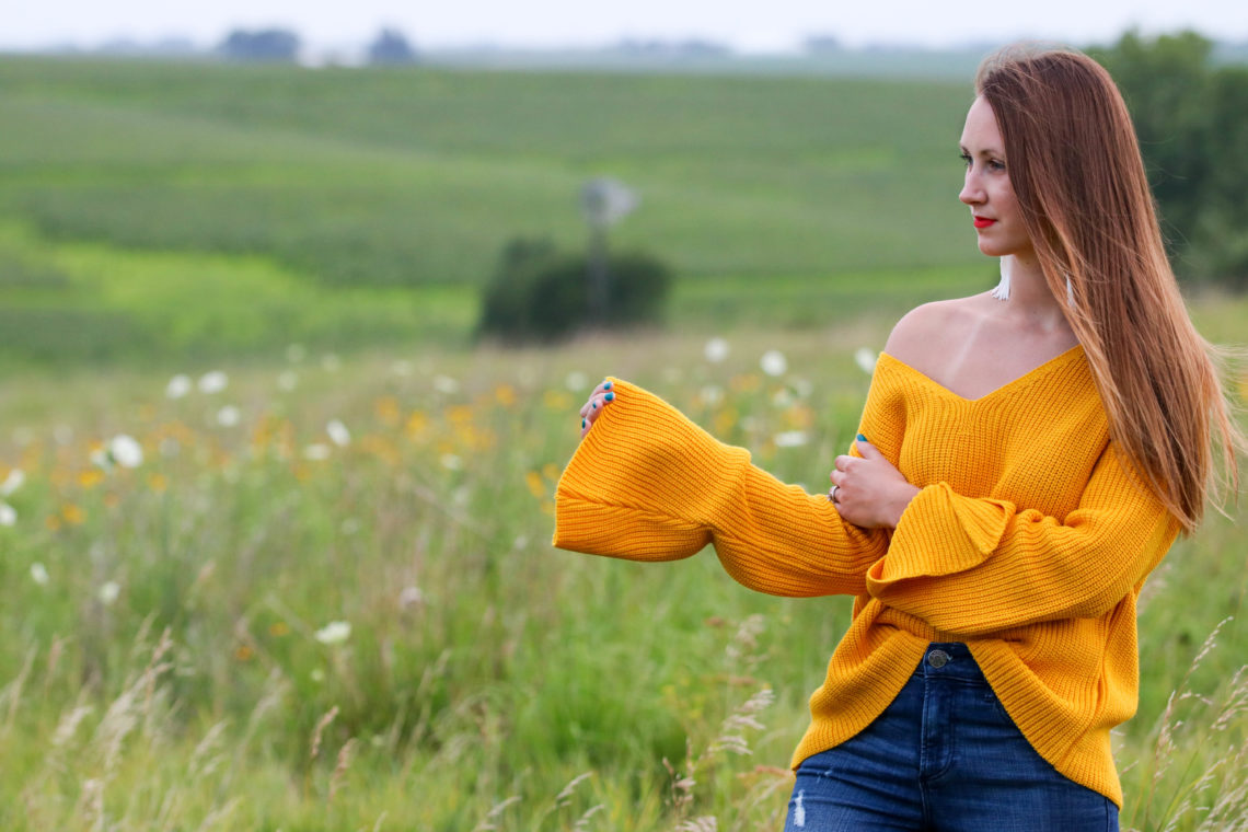 for the love of glitter, bell sleeve top, off the shoulder top, fall style, women's fashion