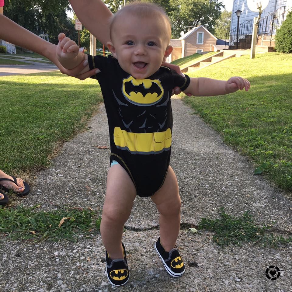 for the love of glitter, baby batman onesie, batman shoes