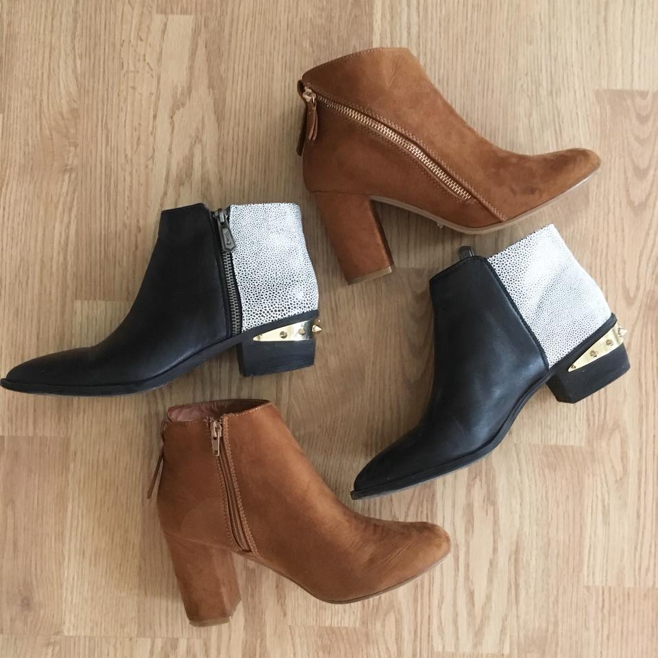 spiked booties, brown booties, fall booties