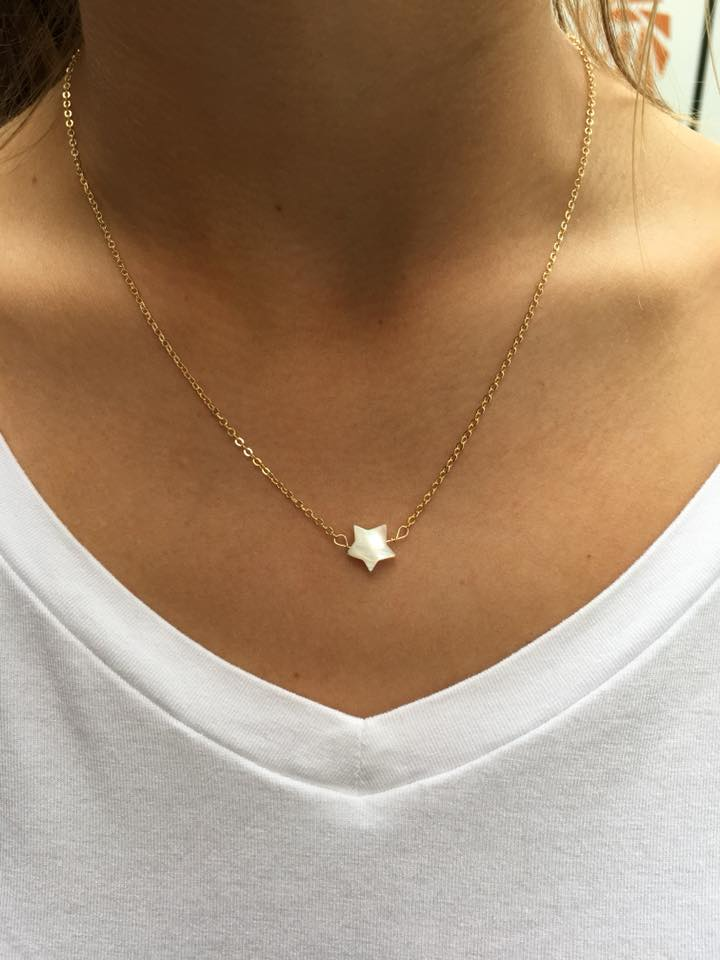 twinkle star necklace, dainty necklace