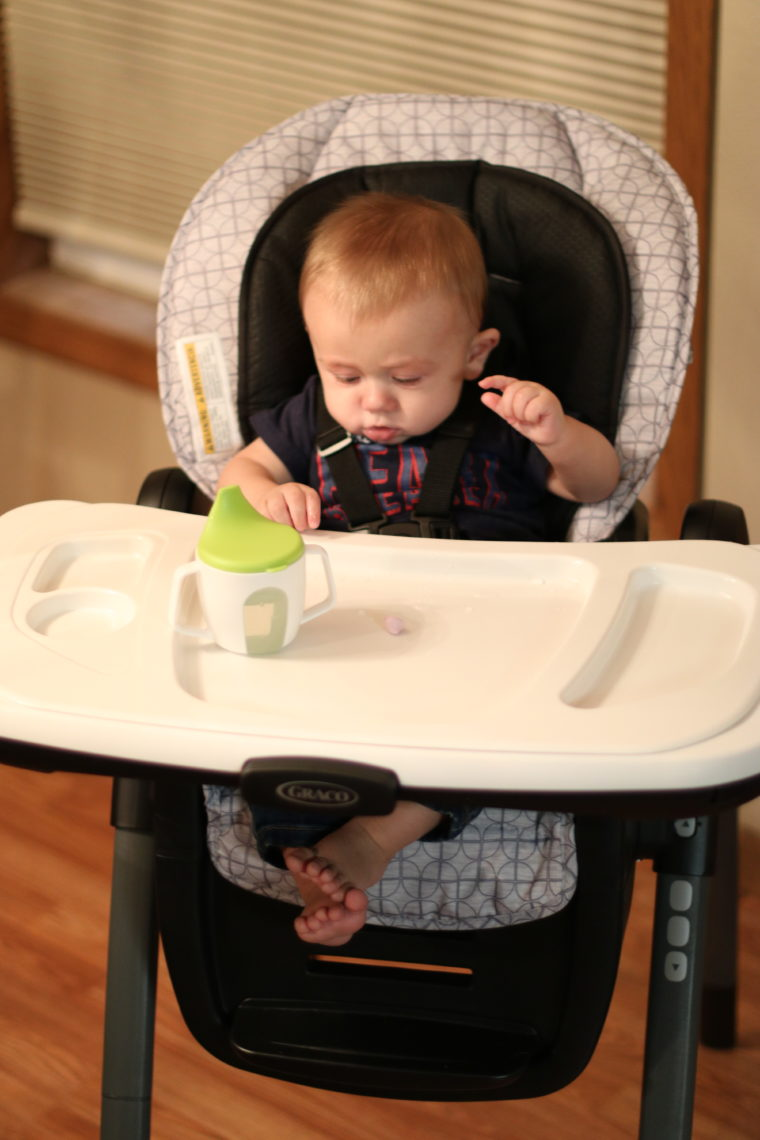 for the love of glitter, baby highchair, Graco highchair
