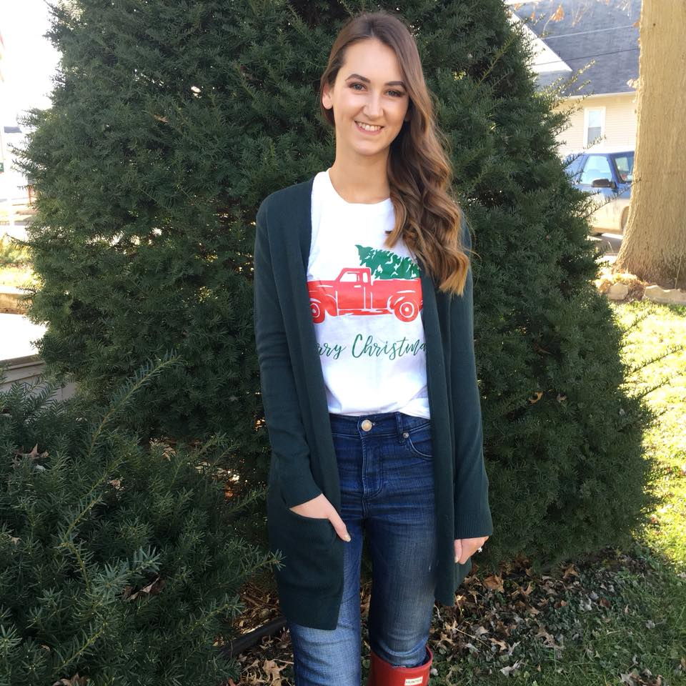 """for the love of glitter, """"Merry Christmas t-shirt,"""" holiday style"""