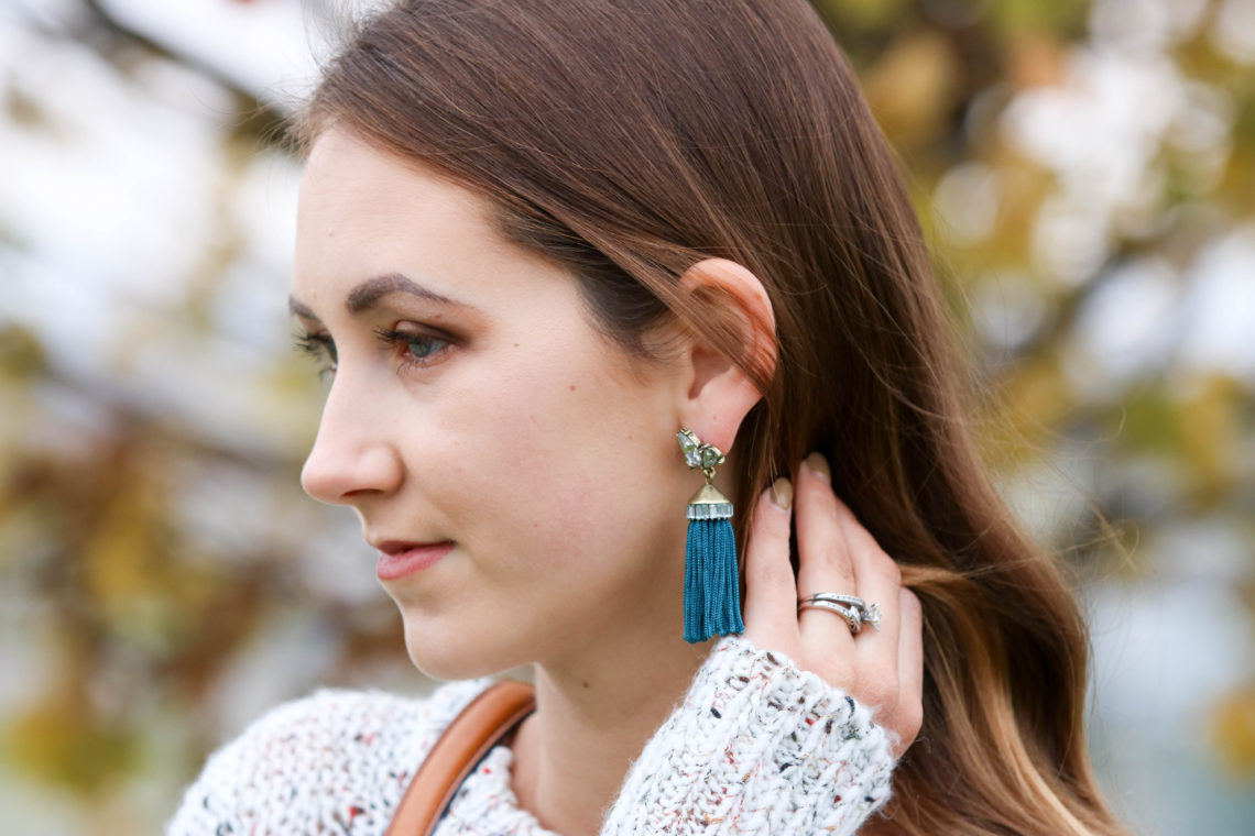for the love of glitter, tassel earrings