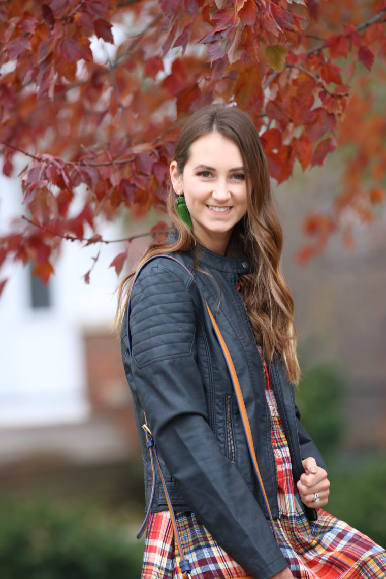 for the love of glitter, black moto jacket, fall style