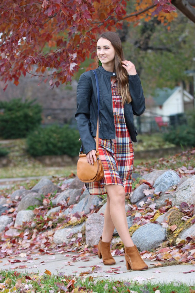 The Perfect Plaid Dress For Thanksgiving