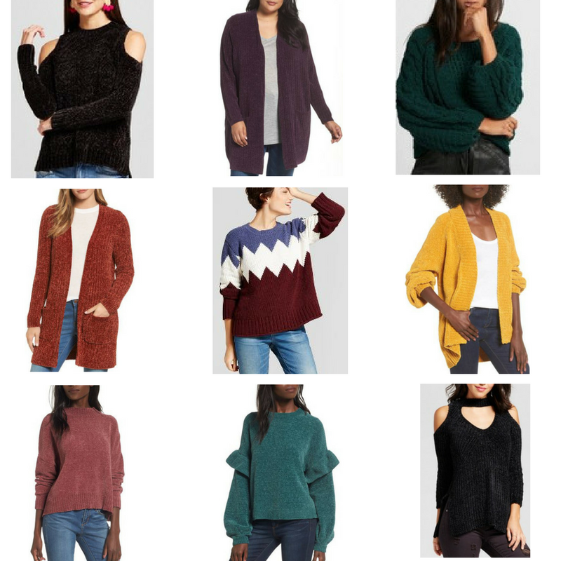 Trending: Chenille Sweaters