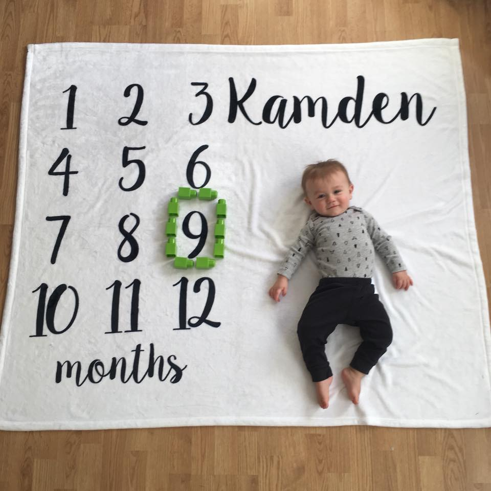 9 months old, month by month blanket