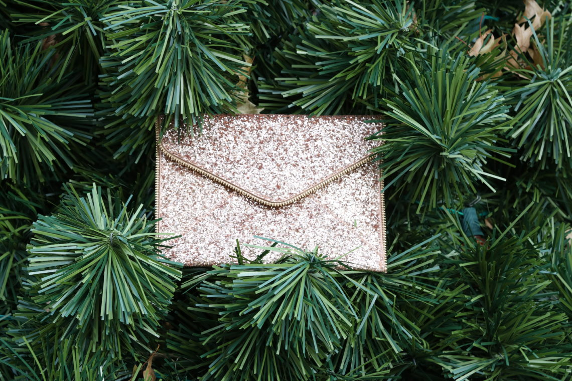 gold sequin envelope clutch, for the love of glitter