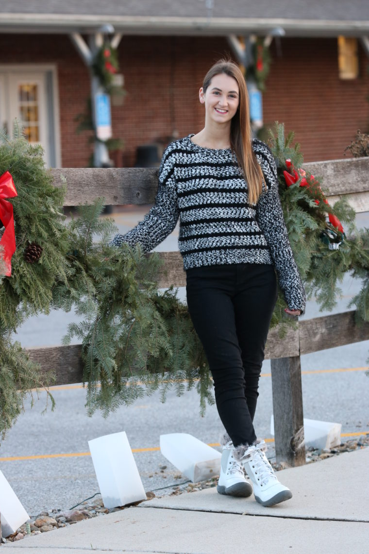 for the love of glitter, fuzzy sweater, winter style