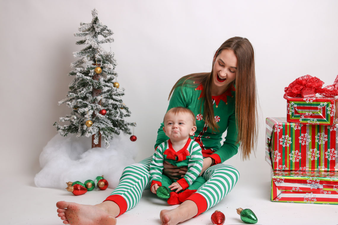 Mommy & Me Matching Elf PJ's