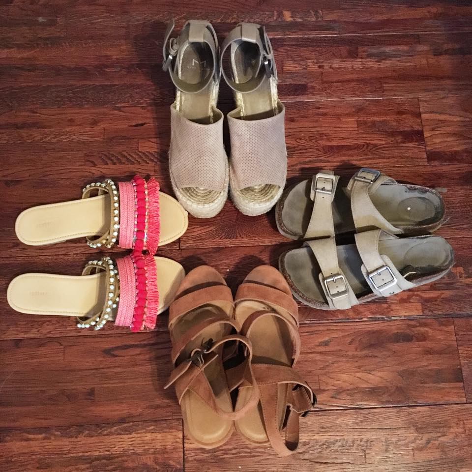 Marc Fisher wedges, Madden Girl sandals, brown suede wedges