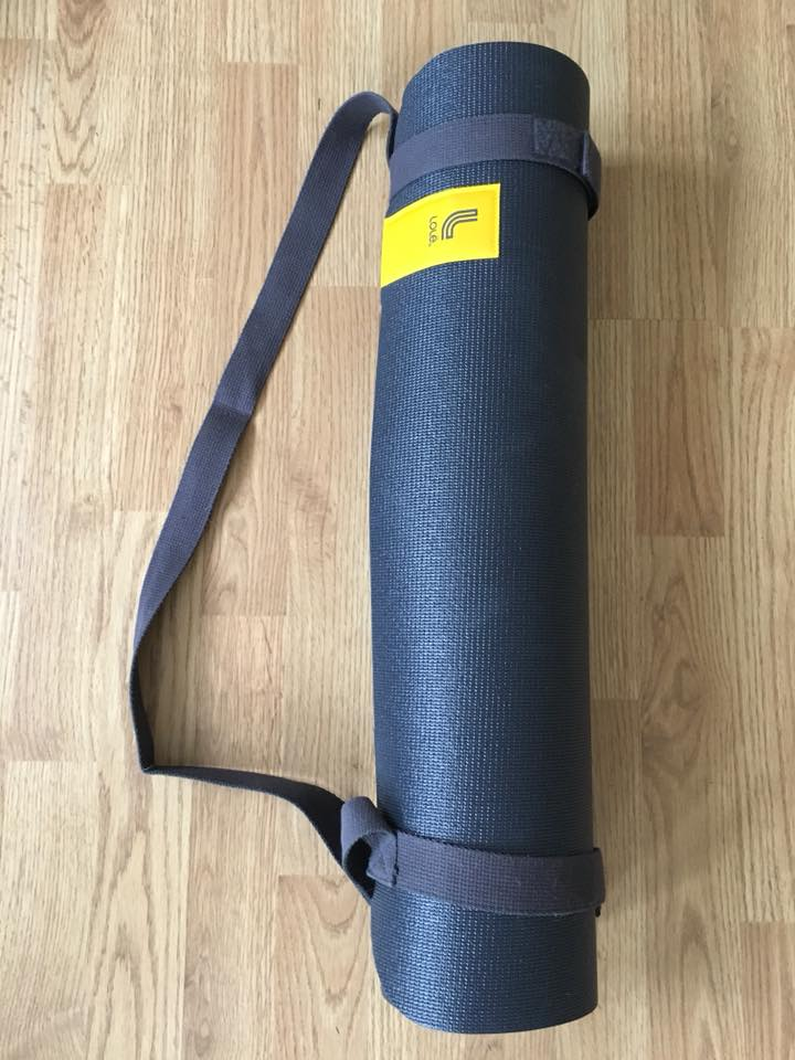 Lole Yoga Strap and Mat Black, work out mat, yoga mat