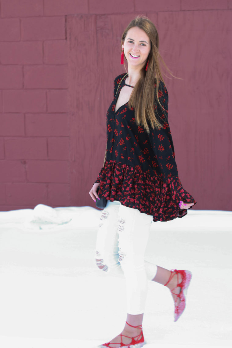 bell sleeve top, Valentine's Day look, for the love of glitter