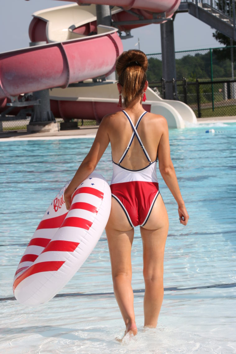 4th of July swimsuit, red, white & blue swimsuit