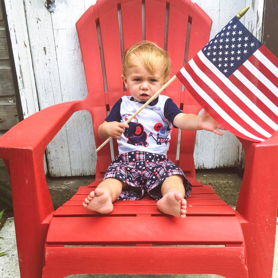 4th of July, toddler boy style. fest style