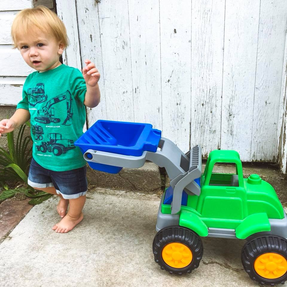 tractor shirt, green tractor, toddler style