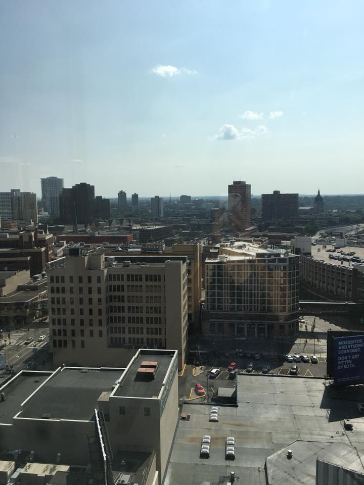 Loews Minneapolis Hotel review, hotel room views, Minneapolis, Minnesota