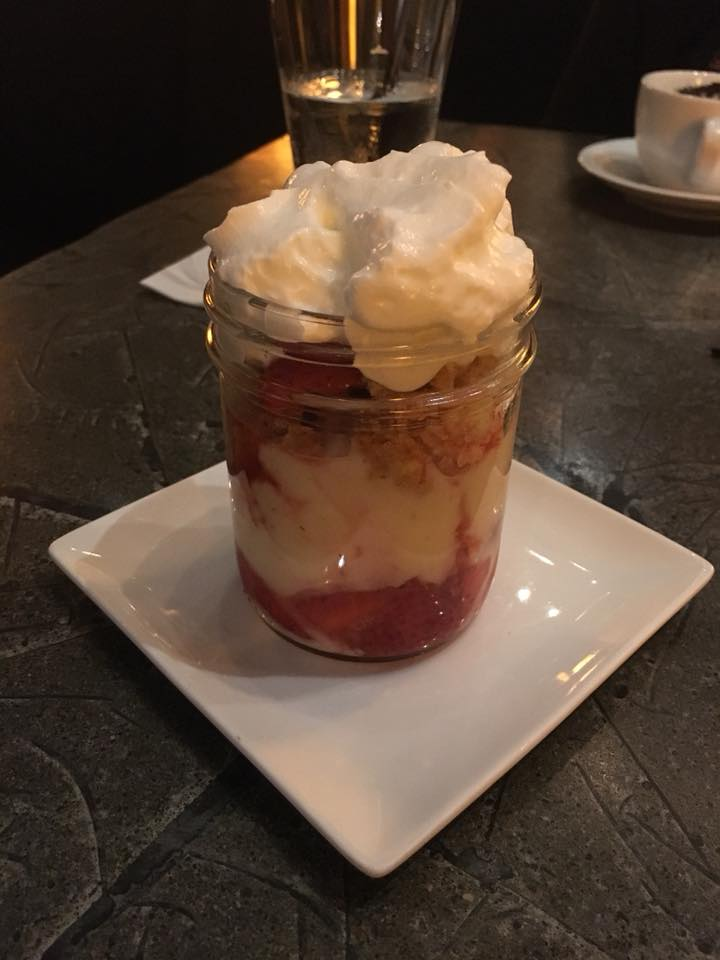 Releve Restaurant, Loews Minneapolis Hotel, Strawberry Shortcake Parfait