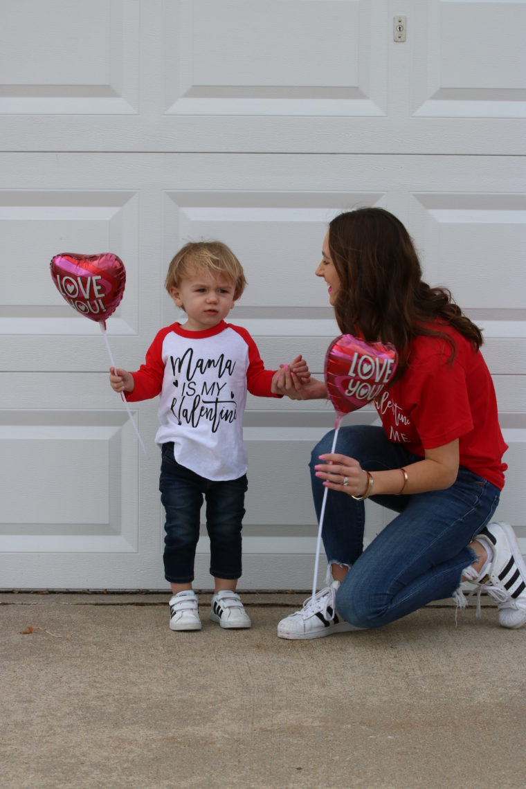 Mommy + Me Matching Valentine's Day Tee's