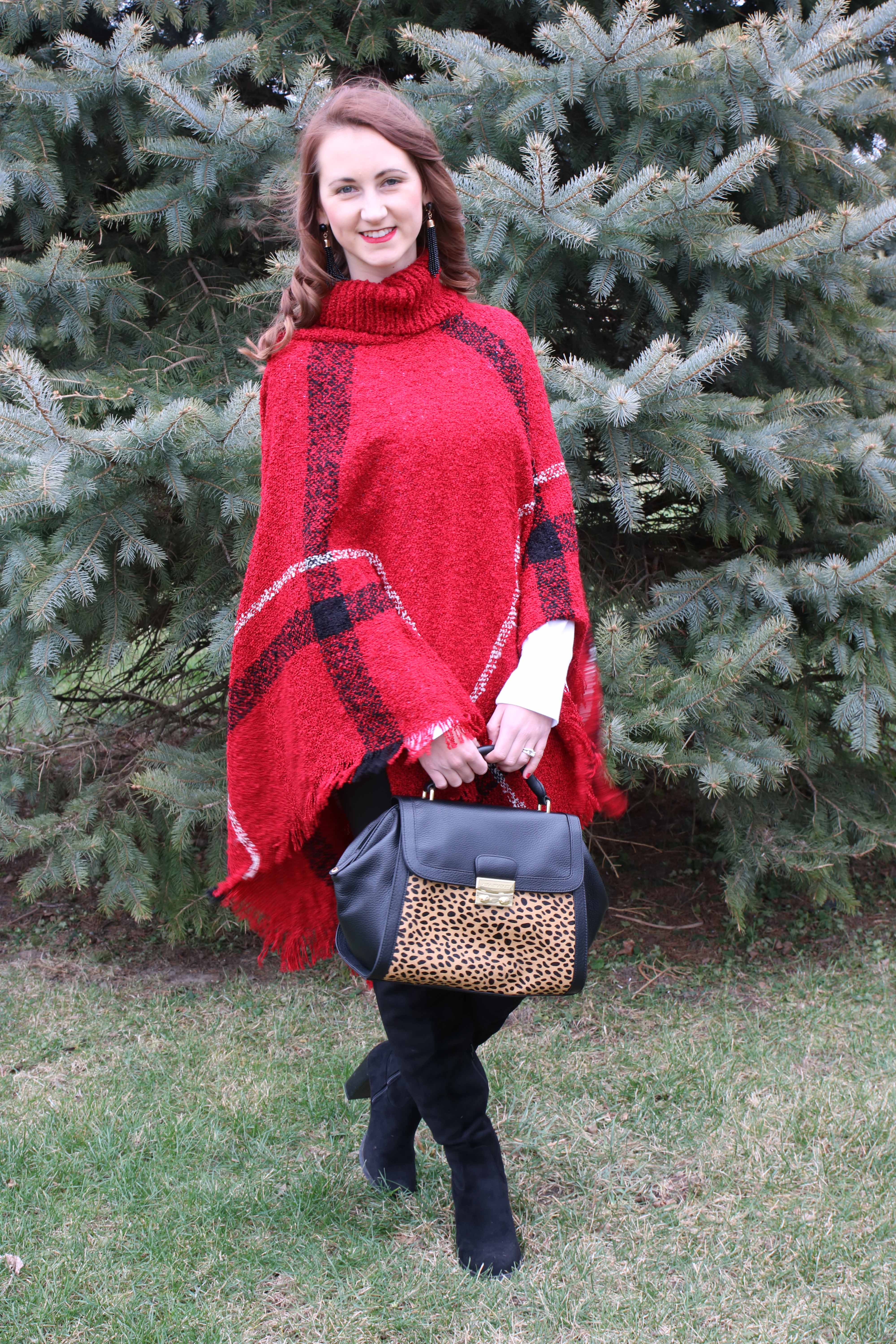 Plaid Poncho - For The Love Of Glitter
