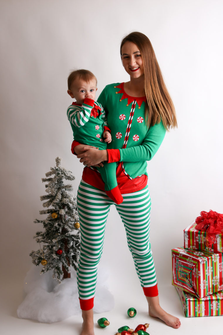 8b641c1a51 Mommy & Me Matching Elf PJ's - For The Love Of Glitter