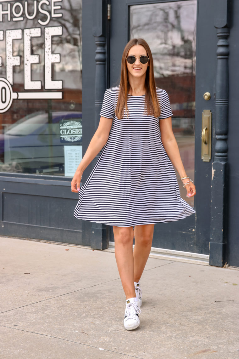 Striped Jersey Swing Dress For The Love Of Glitter